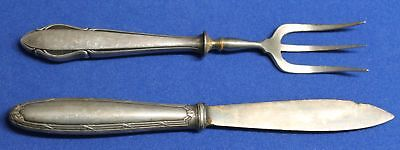 OLD ANTIQUE VINTAGE  19ct NICE SILVER PLATED WMF FORK + CHRISTOFLE KNIFE