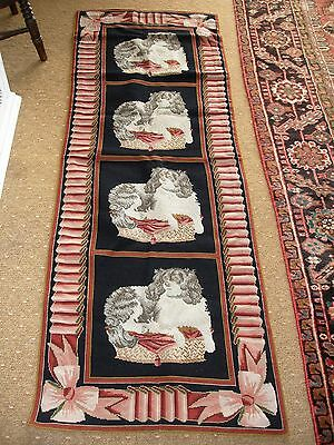 Genuine Elizabeth Bradley Needlepoint Rug Carpet Runner Ex Display Spaniel Dash