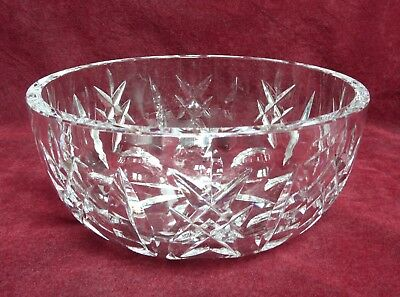 Vintage Lead Crystal Waterford Fruit Trifle Sweets Bowl 20 cm Acid Marked