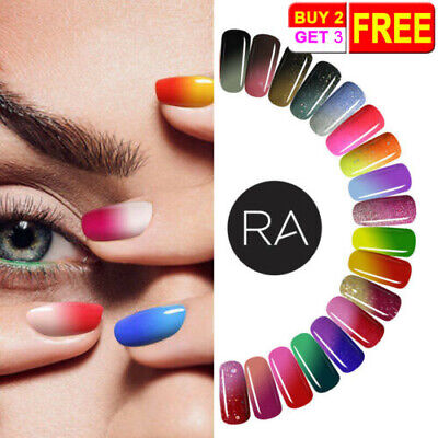 RA Thermo Thermolack Farbwechsel Nagellack Nail Color Changing Polish Top Base