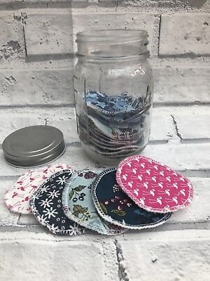Soft Reusable Makeup Wipes In Jar, Eye Make up Remover Pads Washable Face Rounds