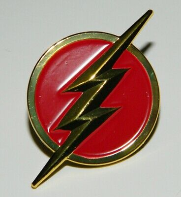 DC Comics The Flash TV Series Lightning Bolt Red Logo Metal Enamel Pin UNUSED