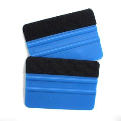 Blue Plastic Wrapping Squeegee Tool Felt Edge Car Window Wrap Scraper Decal New