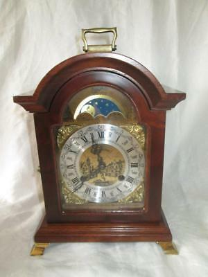 Franz Hermle Moon Phase Bell Chime Key Wind Ornate Bracket Clock (working)