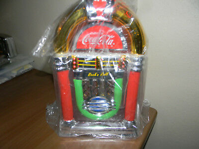 Coca-Cola Rock'n Roll 2002 Gibson JukeBox Shaped Cookie Jar