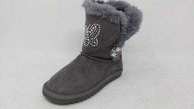 Girls Piper Aimee 11581 Fur-lined Faux Suede boot NEW Black 170F pm