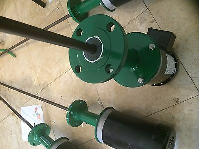 "Tank Mixer 6"" Agitator. 2 HP 32"" shaft. Flanged or 2"" NPT base for sealed tanks"