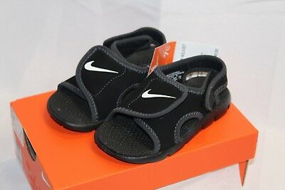 ebc41afb6e021e New Infant Toddler Nike Sunray Adjust black gray athletic sandals shoes
