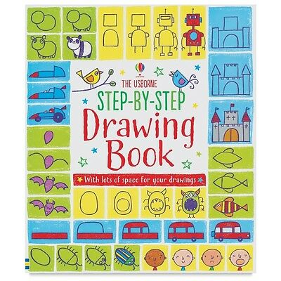 The Usborne Step-By-Step Drawing Book ~ 529536 NEW paperback ~ drawing for kids