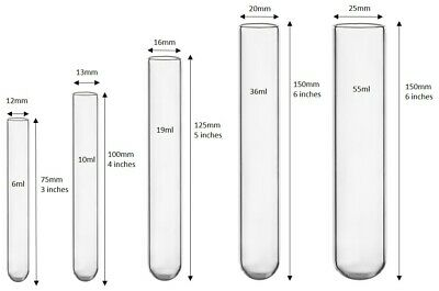 100 count Glass test tubes