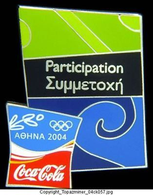 Olympic Pin 2004 Athens Coke Sponsor Participation