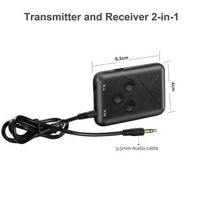 2 in 1 Bluetooth 4.2 Transmitter Receiver 3.5mm Wireless Stereo Audio Adapter