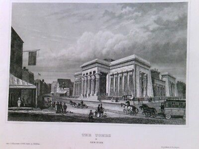 Original Stahlstich / Steel engraved print, The Tombs in New York, Stahlstich, G