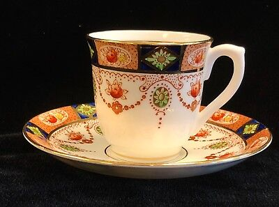 Colclough Bone China England Demitasse Cup and Saucer Gold Trim