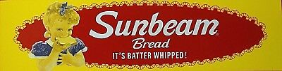 Enamel Sunbeam Bread Door Sign It's Batter Whipped S-1