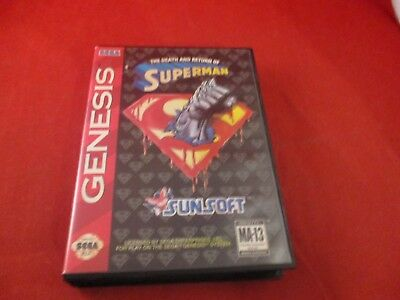 The Death and Return of Superman Sega Genesis Empty Box ONLY (no manual, game)