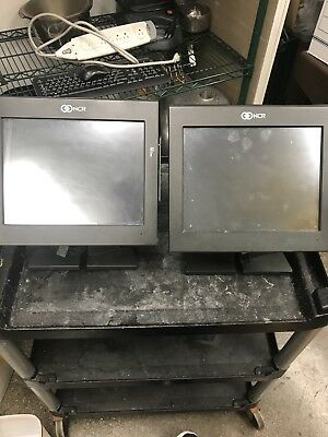 """NCR POS Terminal W/ Power Supply.   15"""" Touchscreen P1230 Full Function Used."""