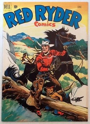 RED RYDER #95 VF/NM 9.0 Dell 1951 Fred Harman Cover Art