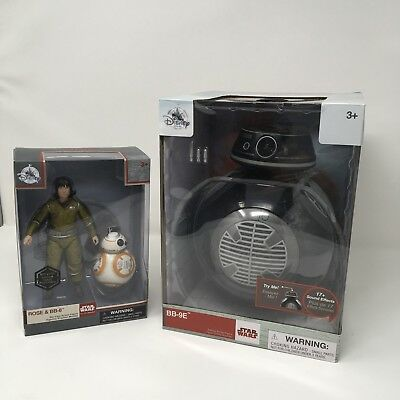 Disney  BB-9E Talking Figure Star Wars The Last Jedi  Droid And Rose BB-8 Bundle