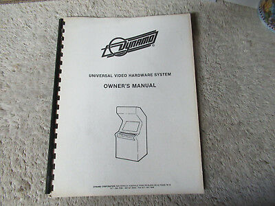 DYNAMO CABINET UNIVERSAL   arcade video game owners manual