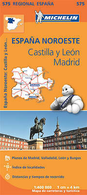 Castilla Y Leon , Madrid Map - New - Michelin 575 Spain Regional Mapping - 2018