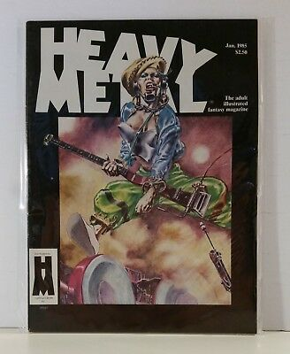 Heavy Metal Magazine Volume 8 #10 January 1985 Manara Friedman Madaudo Findley