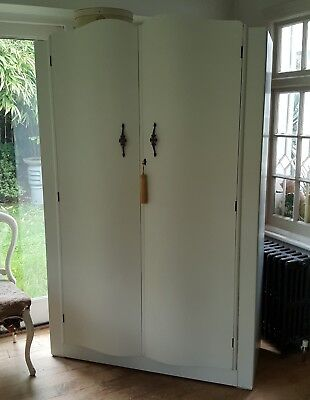 Beautiful Painted Vintage Shabby Chic Wardrobe Armoire Fired Earth