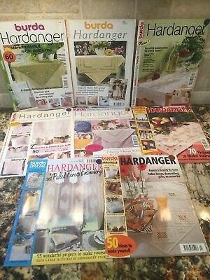 Lot 8 BURDA SPECIAL Practical HARDANGER Aenne Pulled Thread Embroidery Magazines