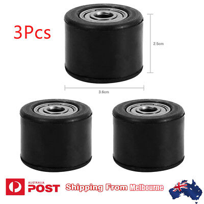 3X Chain Roller Tensioner Pulley Wheel Guide For Motorcycle Dirt Bike Enduro 8mm