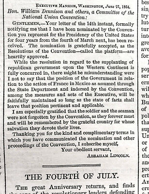 General Grant Sherman Lincoln Letter Georgia Civil War 1864 Harper Weekly