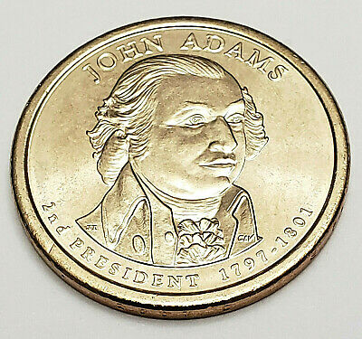 2007 D JOHN ADAMS Presidential Dollar  **FREE SHIPPING**