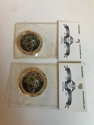 "Vietnam War Veterans Coins Lot of 2 ""Welcome Home"""