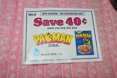 Rainbow Brite or Pac-Man Cereal Coupon, No Expiration, Vintage, Collectible