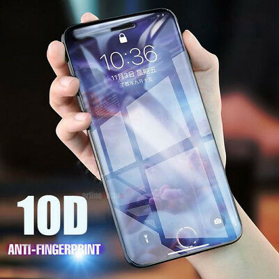 10D Curved Full Cover Tempered Glass Screen Protector For iPhone 6s 6 7 8 X Plus