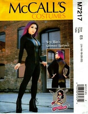 McCalls Sewing Pattern 7217 Costumes Yaya Han Ultimate Bodysuit 14-22