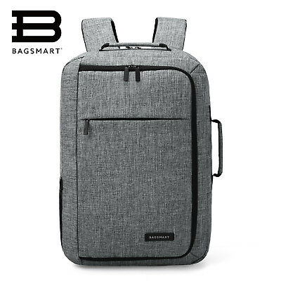 BAGSMART Men's Laptop Backpack Convertible Briefcase Water-proof Travel Carrier