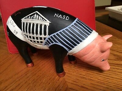 "Department 56 "" Porkers Inc "" Ceramic Pig Piggy Bank Collectible Rare New"