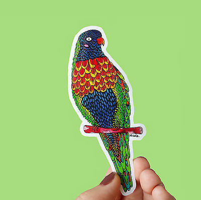 Vinyl Sticker Australian Bird Rainbow Lorikeet Waterproof Sticker Decal Laptop