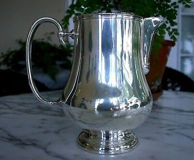 CHRISTOFLE Hotel Silver NEPTUNE/ALBI Water Pitcher $1200+ MSRP Made In France