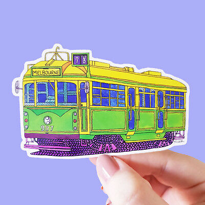 Vinyl Sticker Melbourne Tram Waterproof Sticker Decal Laptop Car Bumper Art