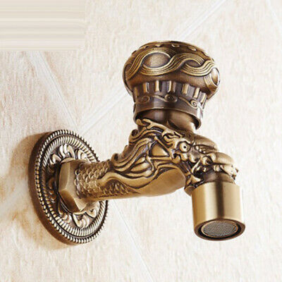 Brass Embossed Water Faucet Water Tap for Basin Sink Tub Washing Machine -#3