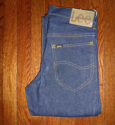 LEE RIDERS TRUE VINTAGE Made In The USA RAW/CRISP Denim Jeans 1970's/80s 27X35