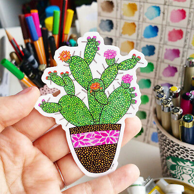 Vinyl Sticker Cactus Waterproof Sticker Decal Laptop Car Bumper Art
