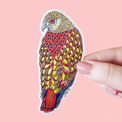 Vinyl Sticker Red-Tailed Hawk Waterproof Bird Sticker Decal Laptop Car Bumper