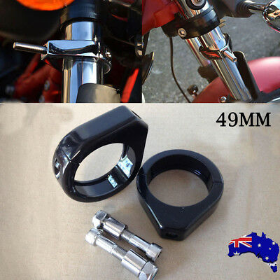Motorcycle Turn Signal Relocation Clamp Mount Bracket 49mm Clamp Fork Tubes Kit