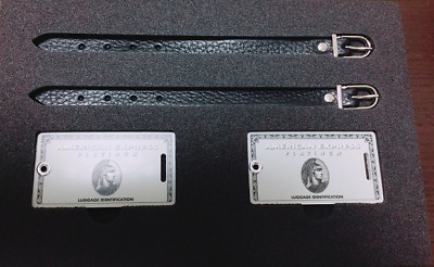 American Express Platinum card holders limited baggage tag Novelty Rare! NEW