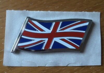 "New MG Rover Union Jack Flag ""Genuine"" Badge Mini Rover 25/45/75/200/400"