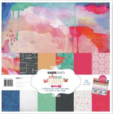 Kaisercraft Paper Pack Chase Rainbows Scrapbooking Cards Brand New