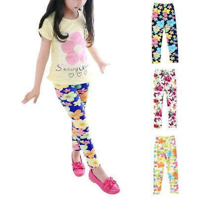 Baby Girl Leggings Floral Pants Toddler Infant Butterfly Soft Elastic Trousers