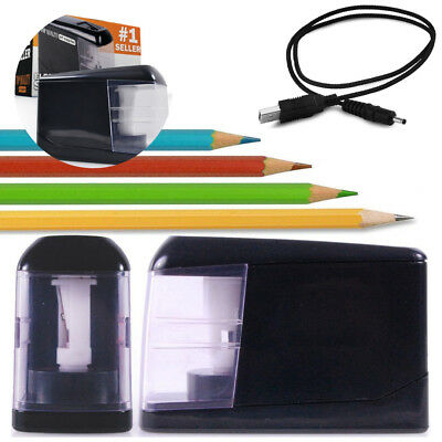 Personal Electric Pencil Sharpener Quiet Desktop Small Automatic with Battery